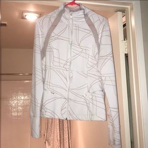 Zella White patterned track jacket